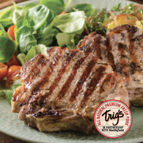 Trig's All Natural Thick Cut Rib Pork Chops Family Pack $2.49/lb